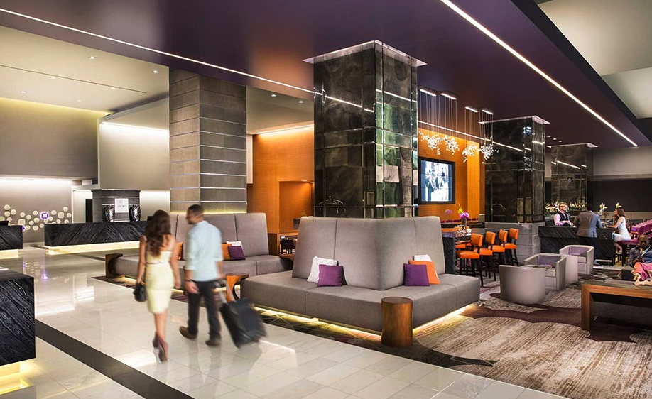 In designing the Loews Hollywood Hotel, Gensler put the lobby bar ahead of the reception desk.