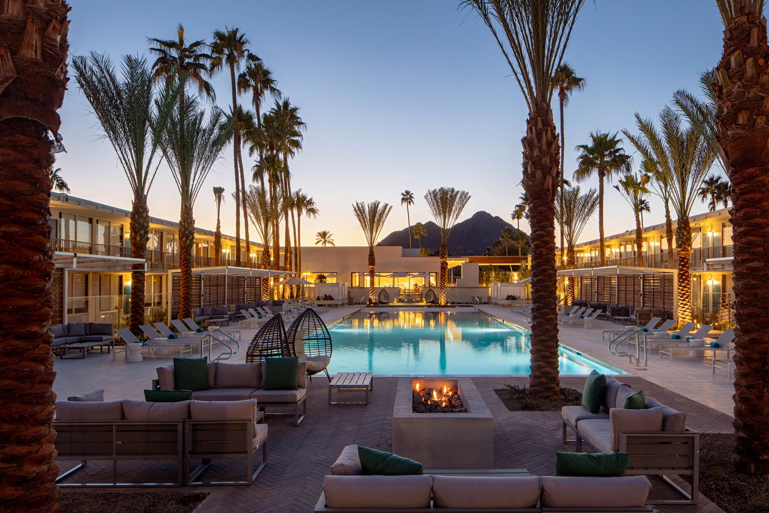 Hotel Adeline's 3,000-square-foot zero edge pool is the centerpiece of the property.