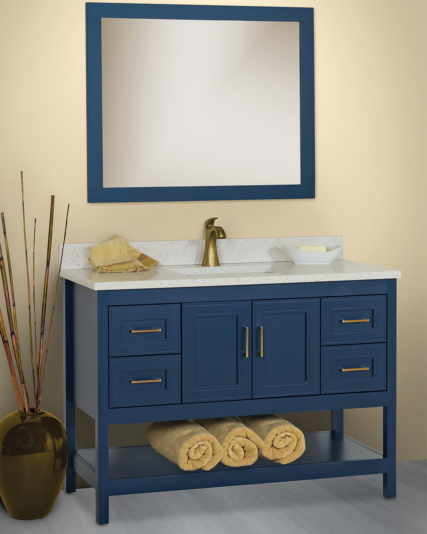 Strasser Woodenworks introduced a new finish for its solid wood bathroom vanities.