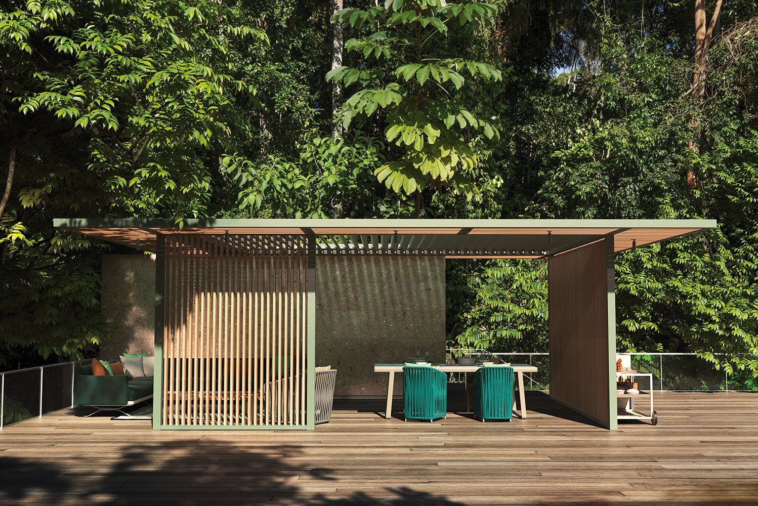 Kettal Studio launched PH1, a new series of pavilions that can be adapted to different uses and environments.