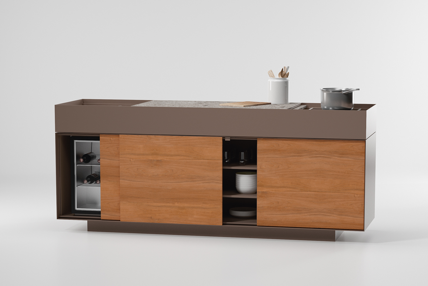 Kettal Studio added a kitchen module to the system.