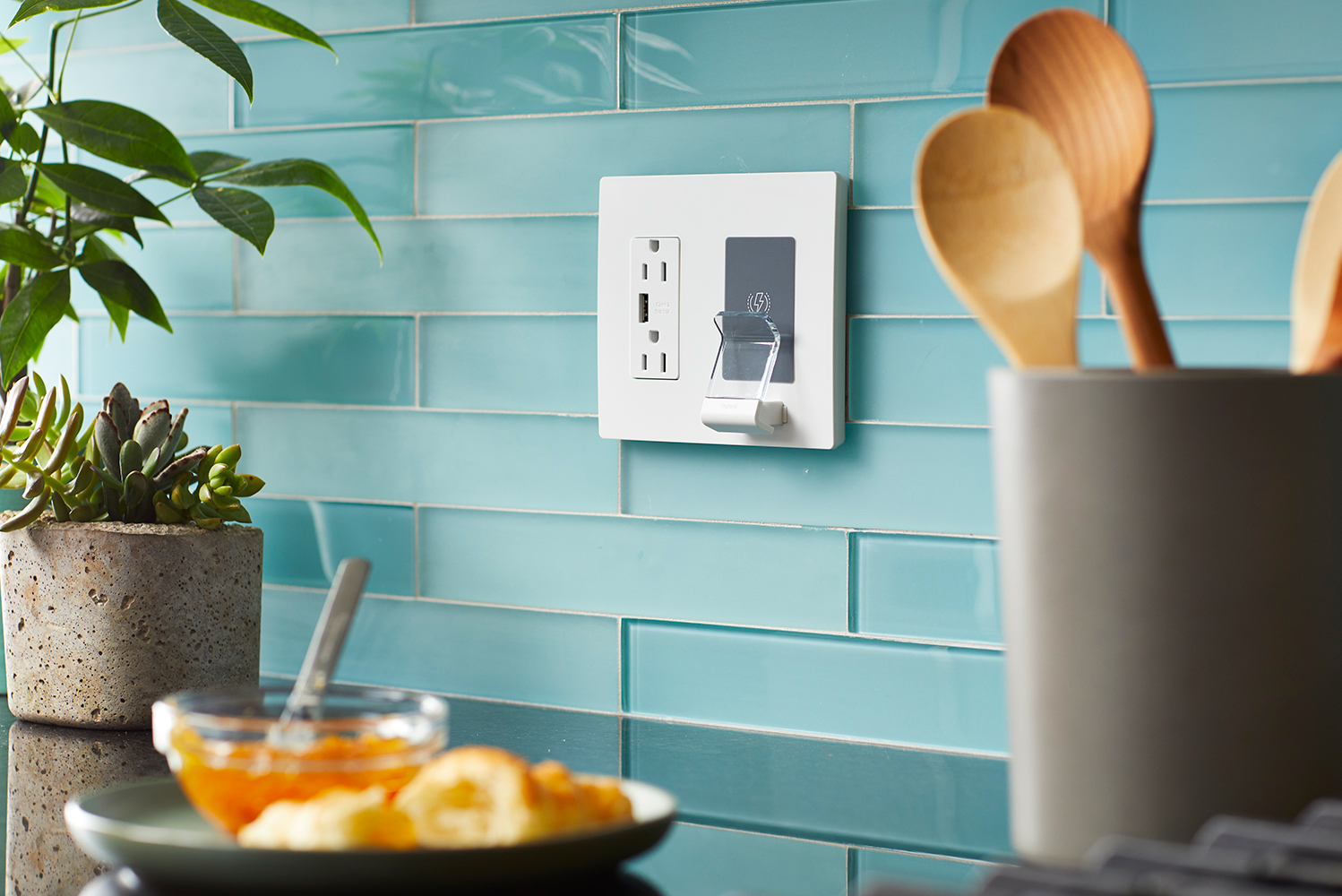 Designed to replace any standard outlet, no new electric wiring is required.