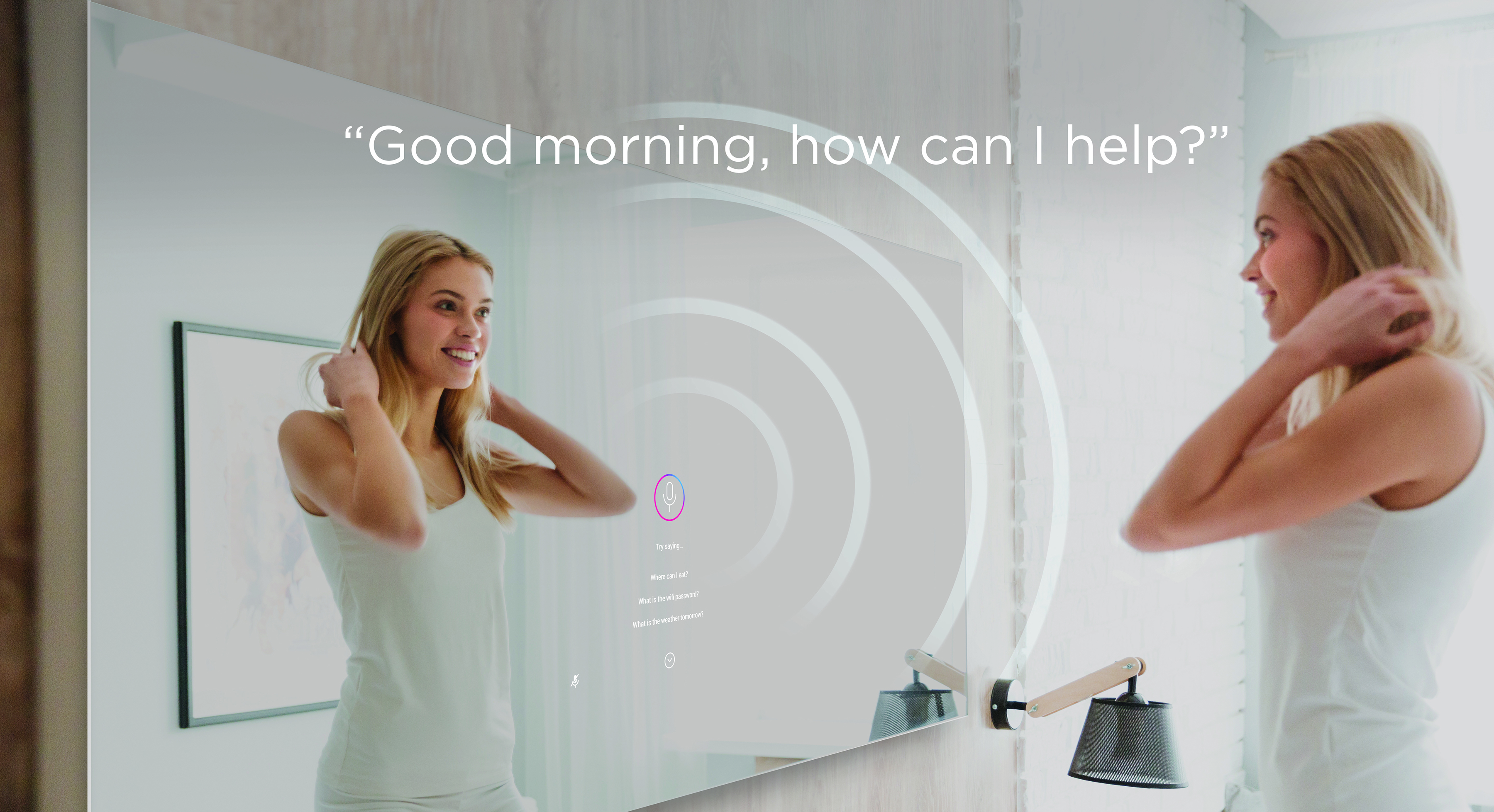 Savvy mirrors are voice-activated.