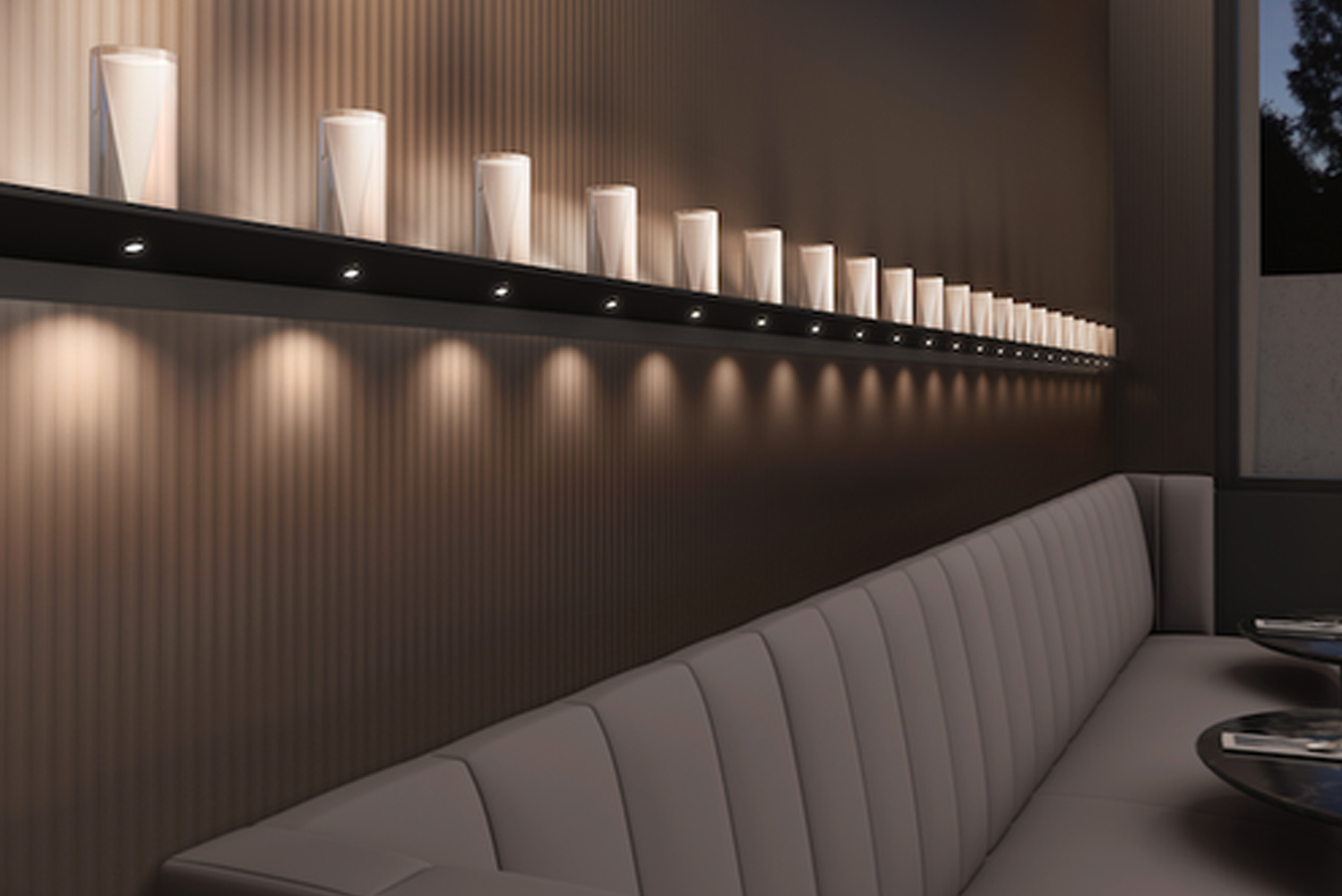 Designed by Robert Sonneman, Votives is available in two varieties.