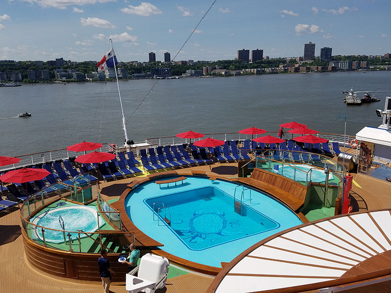 The Vista's Havana pool and staterooms make a return on this ship.