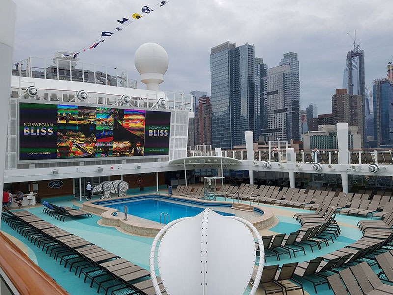 The Norwegian Bliss made its New York debut Friday.