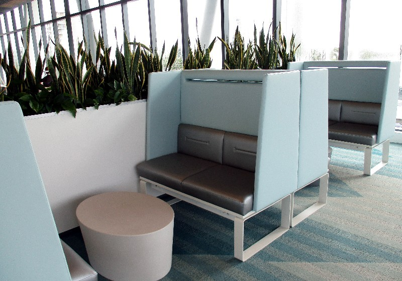 One section of the Select ticket holder lounge
