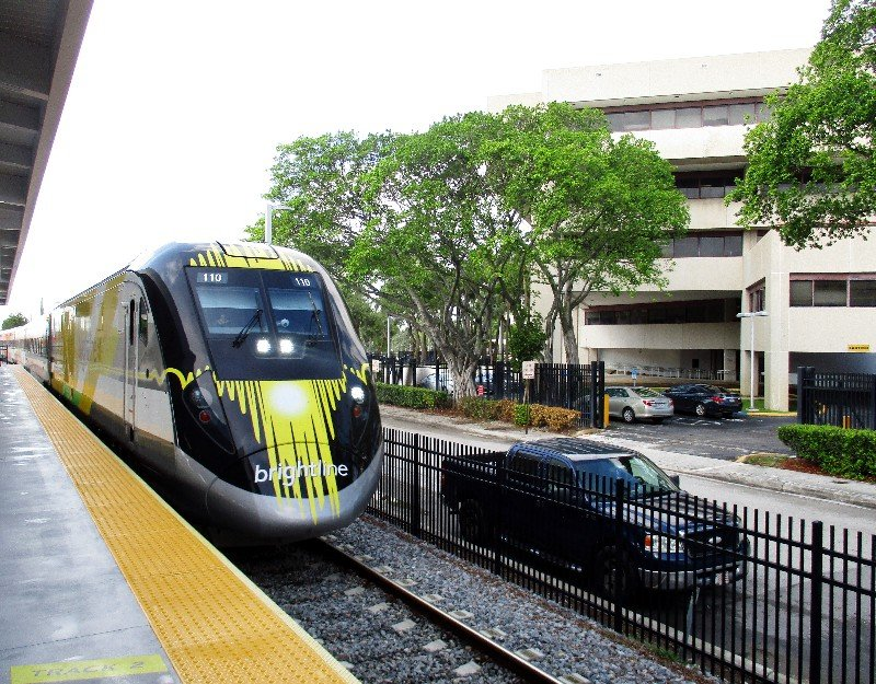 Brightline's new trains are sleek and fully handicapped accessible.