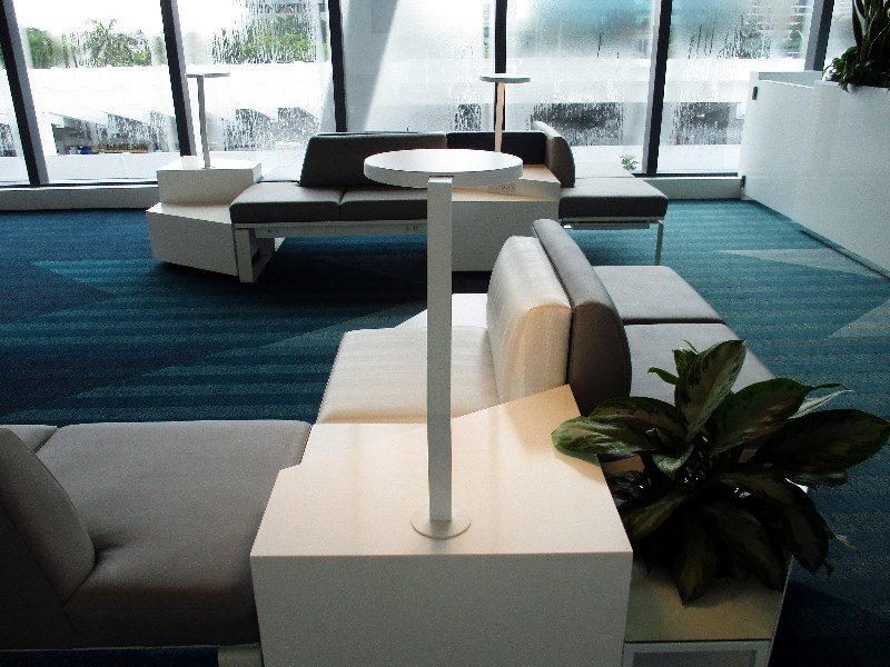 The Select Lounge at the Fort Lauderdale Brightline Terminal.