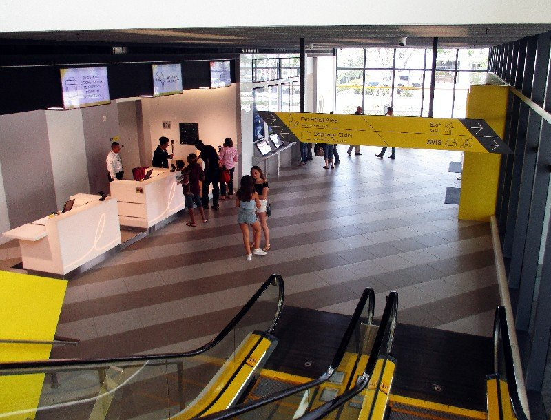 The ticket counter area of the West Palm Beach Brightline Terminal