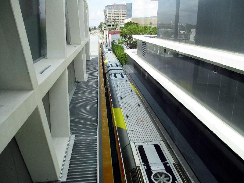 Brightline's train at the West Palm Beach Terminal.
