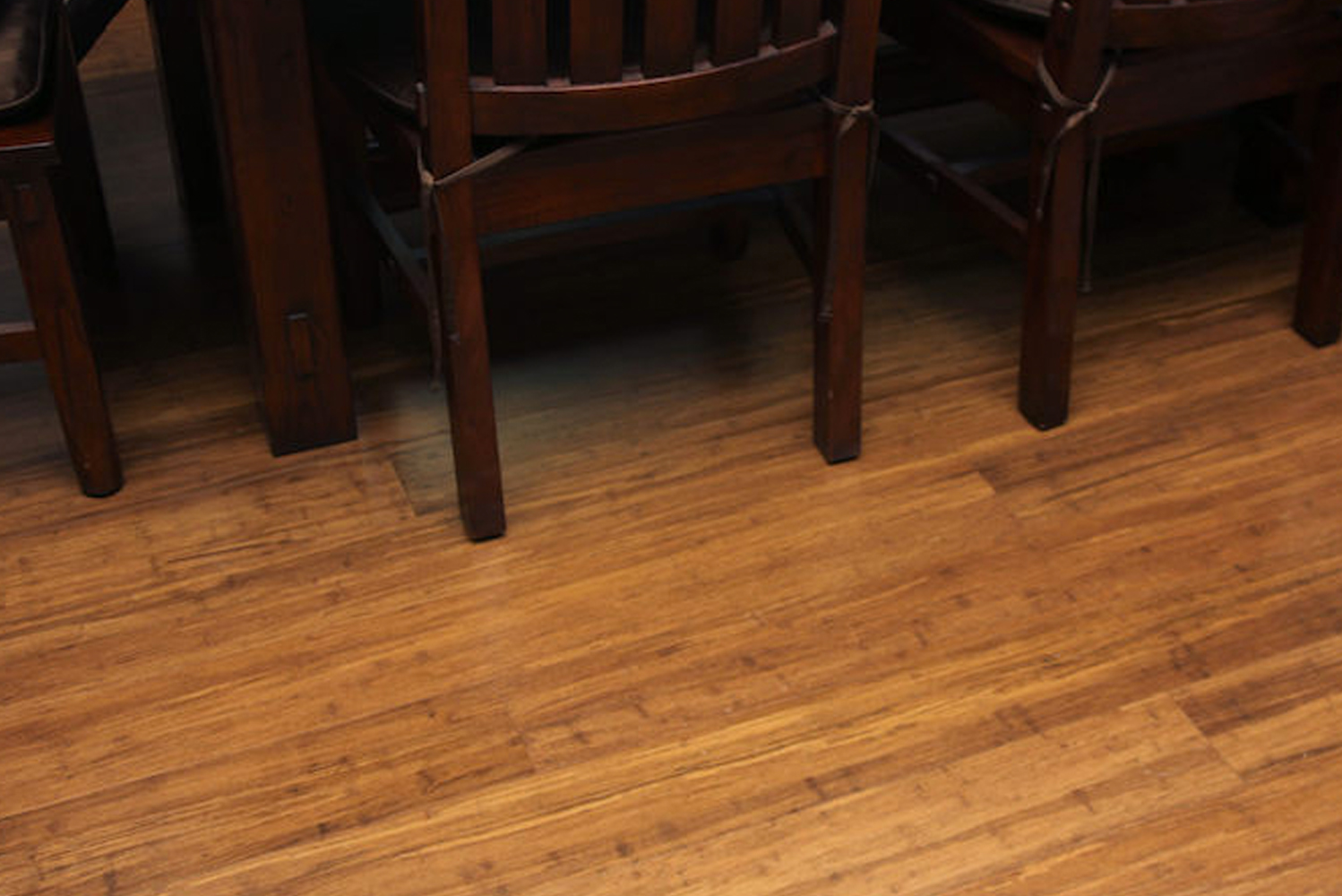 Called GeoWood, the engineered hardwood combines real timber with GeoCore, a stabilizing limestone composite foundation.