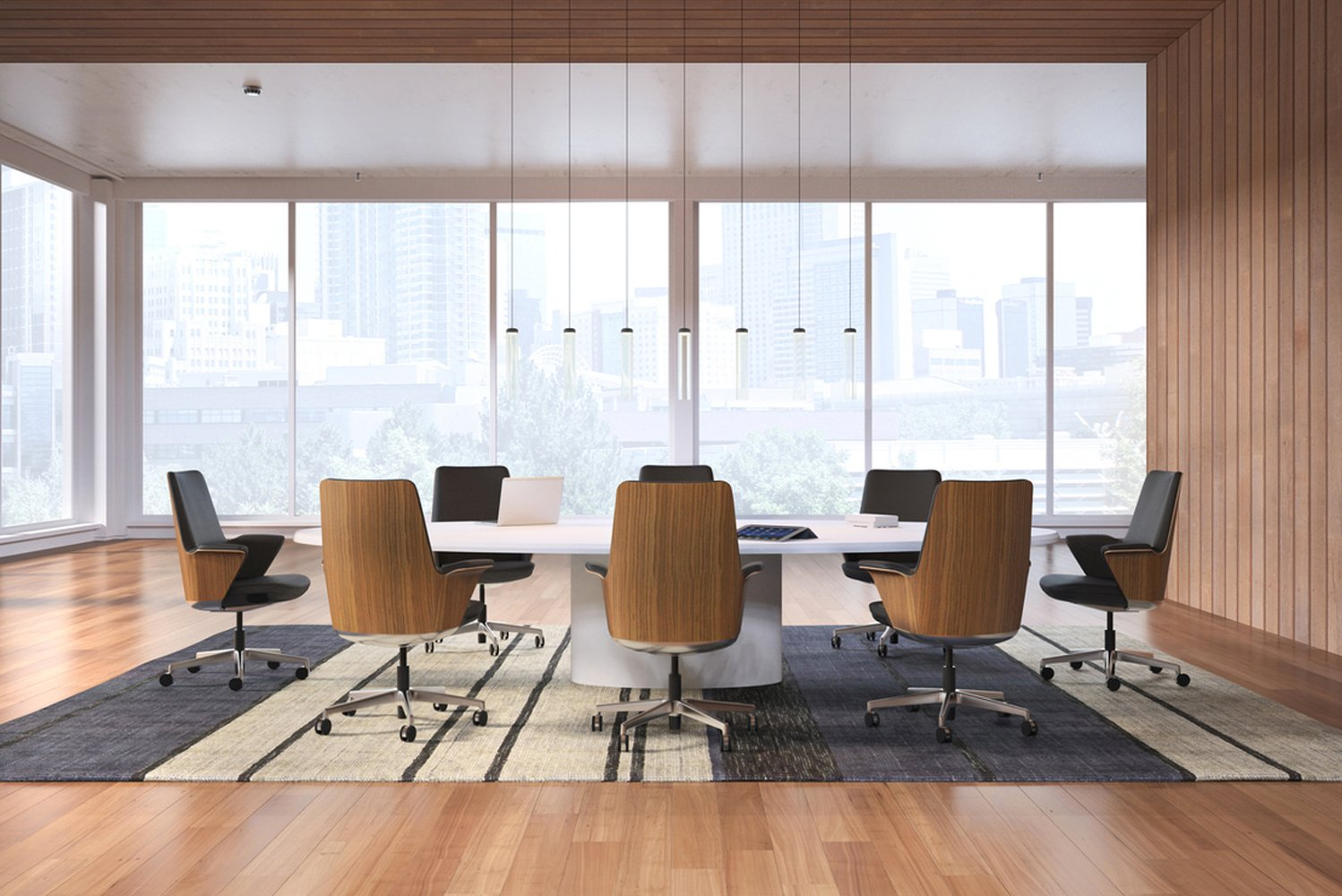 Humanscale launched its first executive boardroom seating product, Summa.