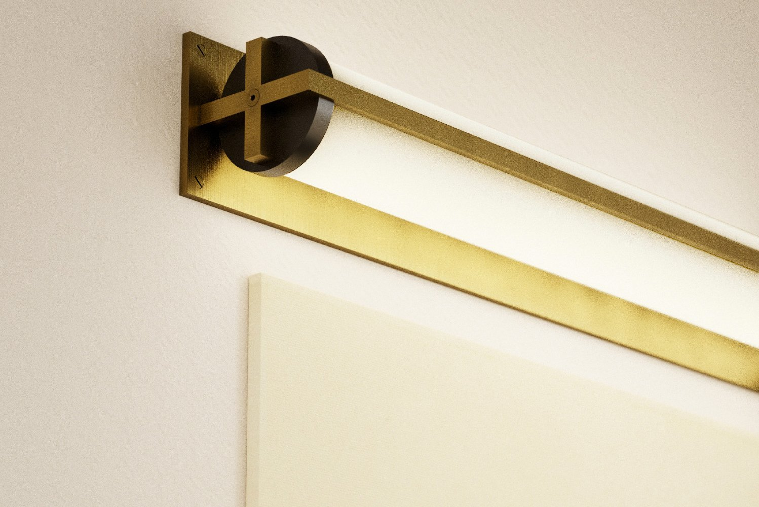 The rectangular backplate is unique to the wall sconce and is designed to allow vertical and horizontal mounting.