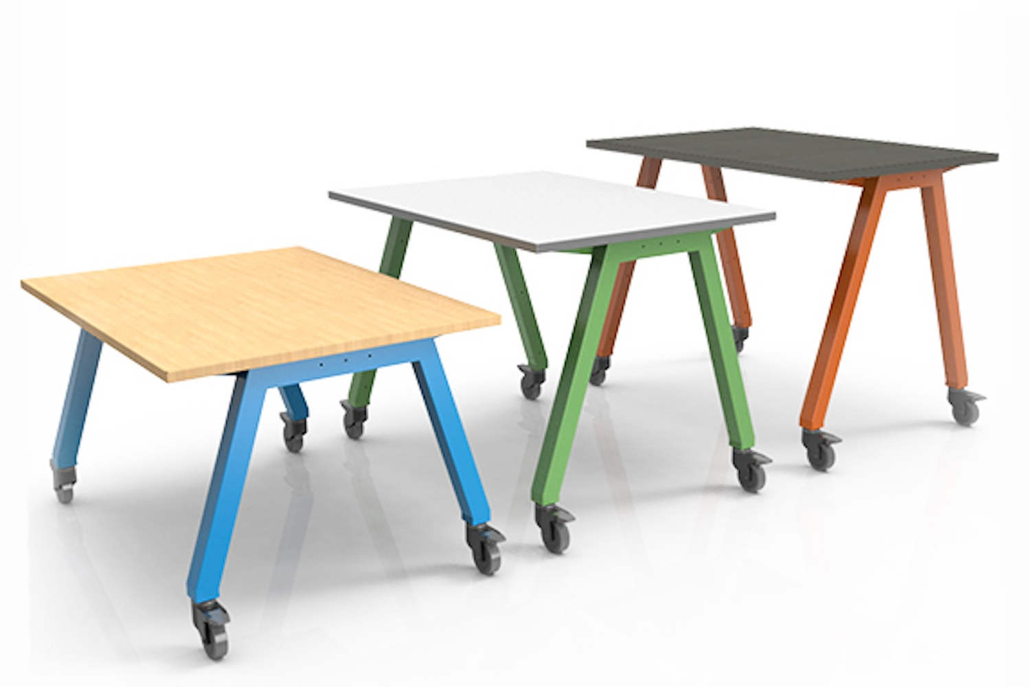 The tables are sturdy yet sophisticated, with Smith System offering multiple sizes and various finishing options.
