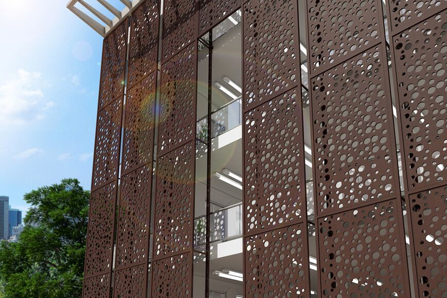 Móz designs and fabricates architectural metal sheets, columns, walls and room dividers in Oakland, CA.