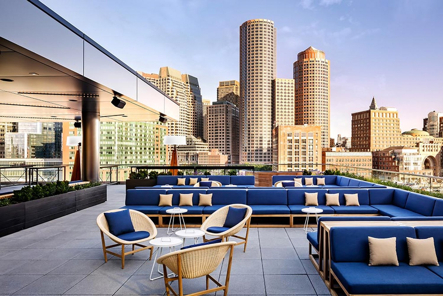 The Envoy Hotel in Boston's Seaport District completed a $4 million expansion and renovation of Lookout Rooftop.