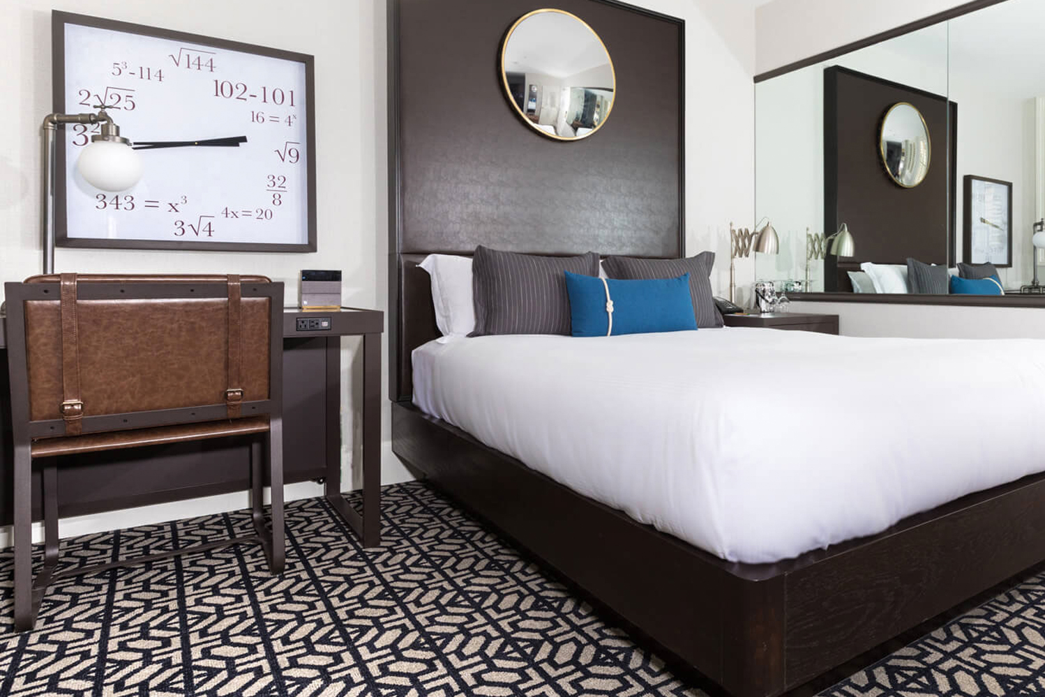 The renovation included 131 redesigned guestrooms and suites, and a brand-new lobby.