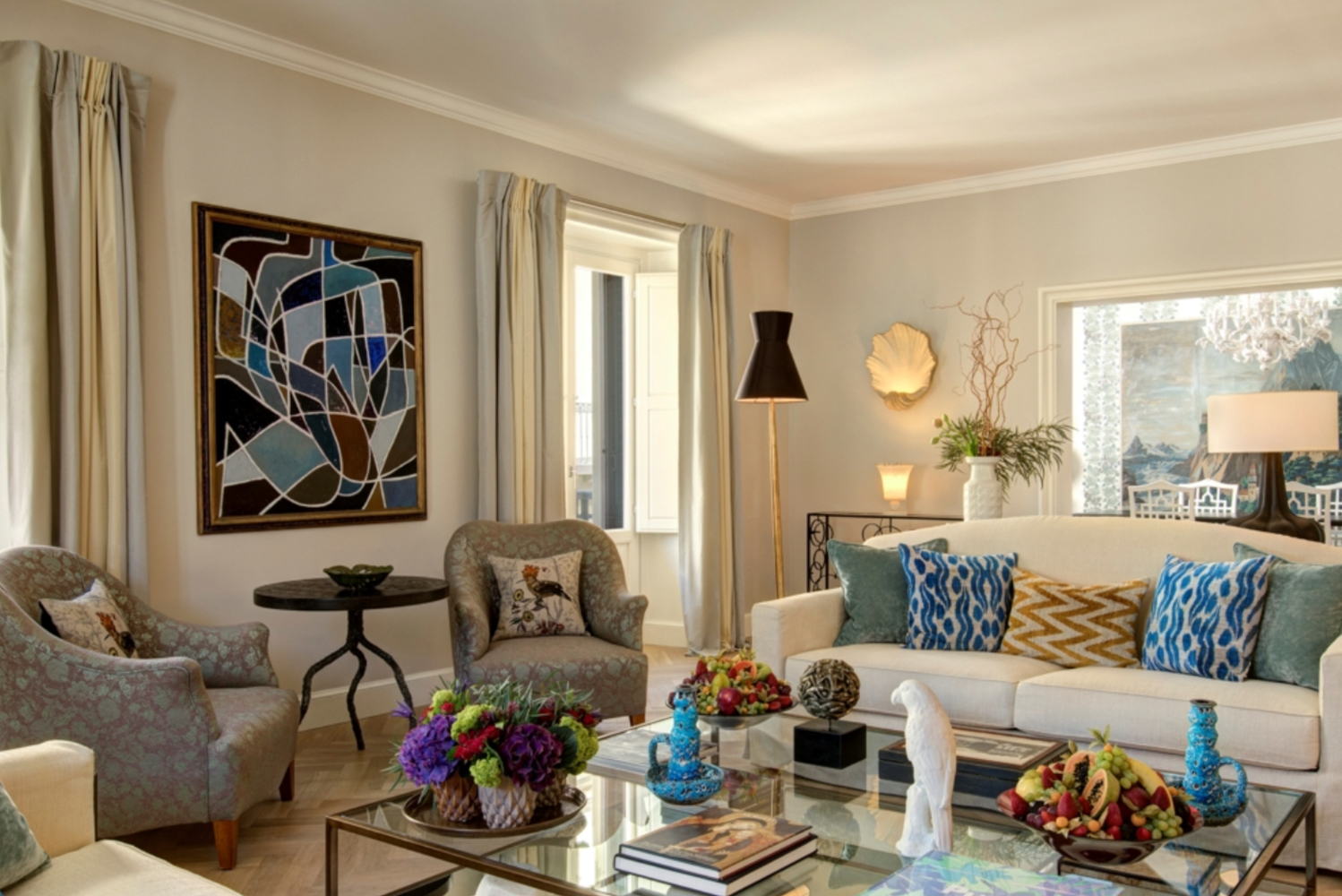 The suite was designed by Rocco Forte Hotels' design director, Olga Polizzi.
