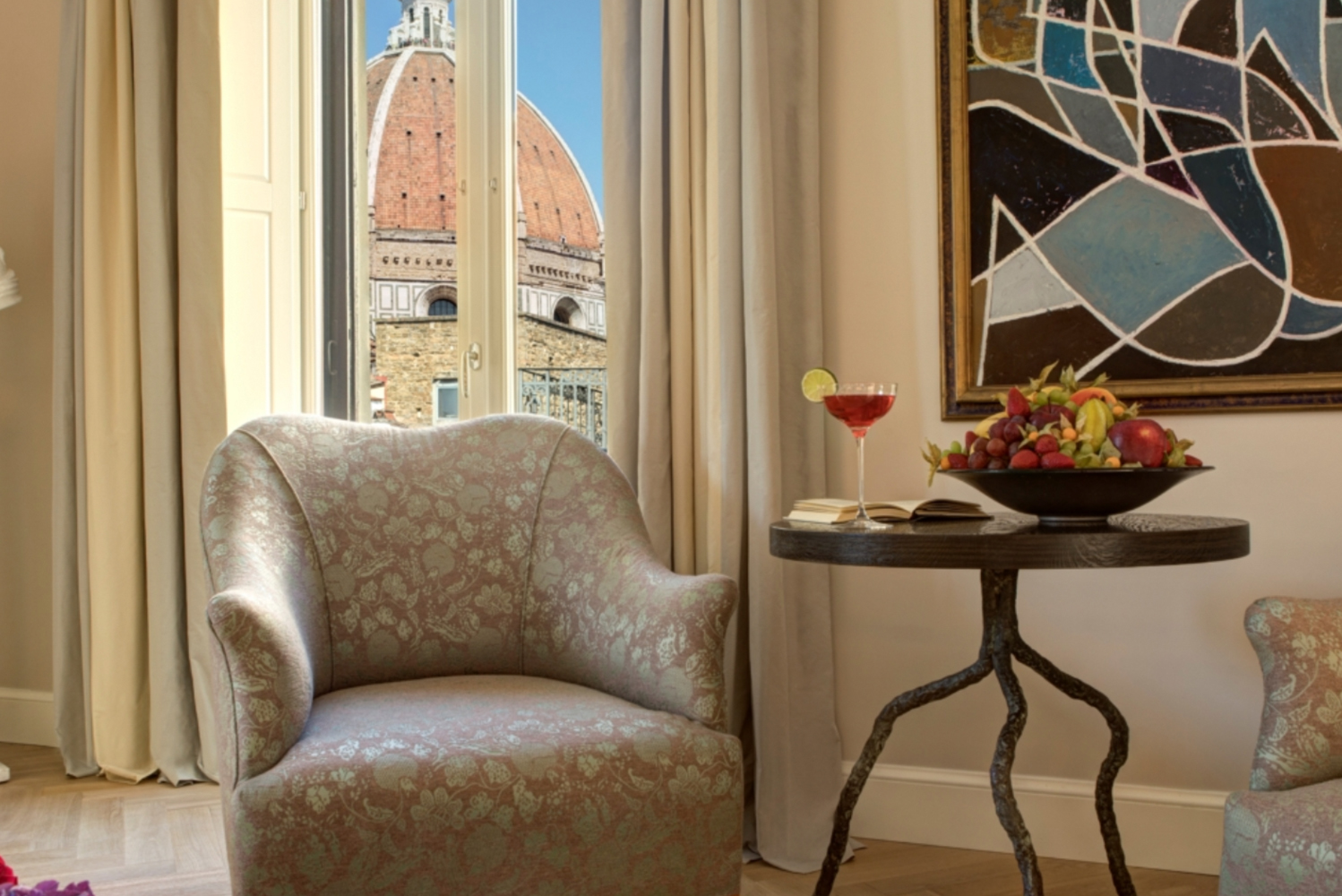 The 1,600-square-foot accommodation, which occupies its own wing of the hotel, has a distinctive Florentine aesthetic.