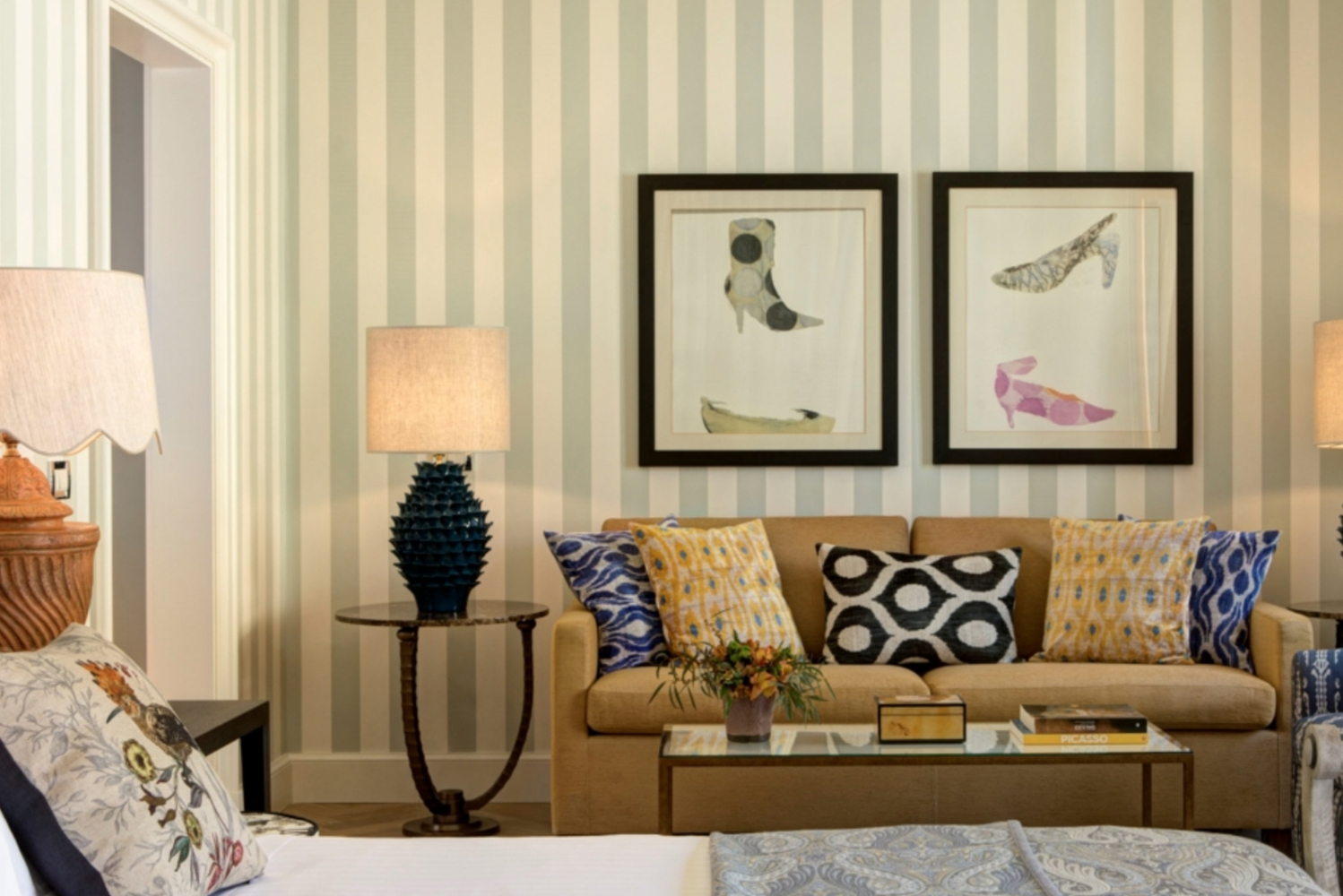 The suite is one of the largest suites in the Rocco Forte Hotel portfolio.