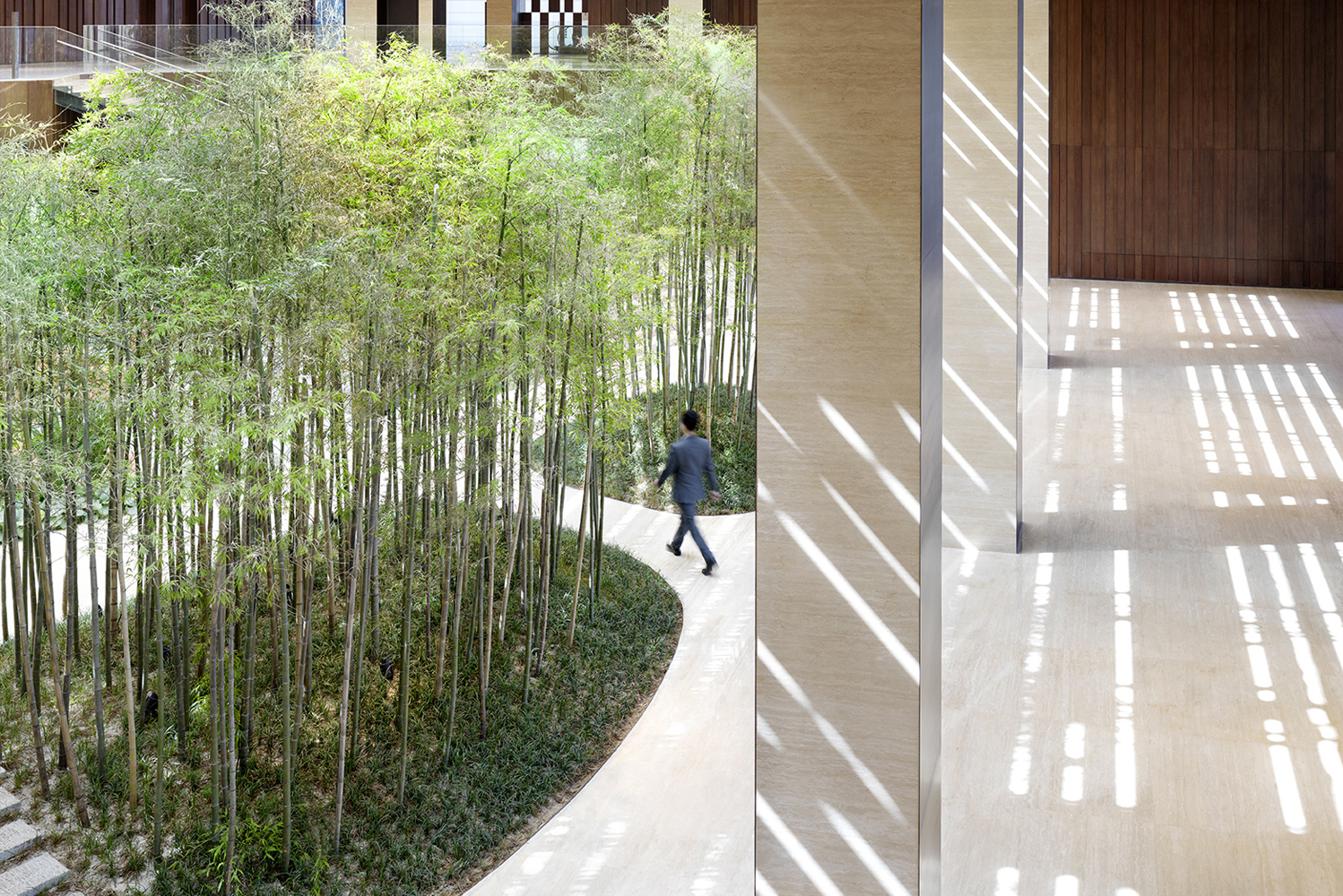 A biophilic design – known to incorporate natural materials, elements and views – is deeply engrained in the hotel's design.