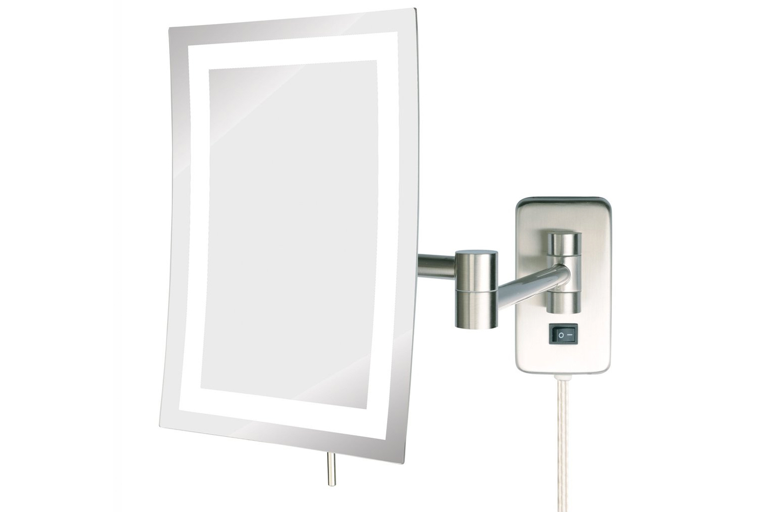 Included as an option is the Sharper image LED lighted wall-mounted mirror with motion sensor capabilities to offer a hi-tech option for guestrooms.