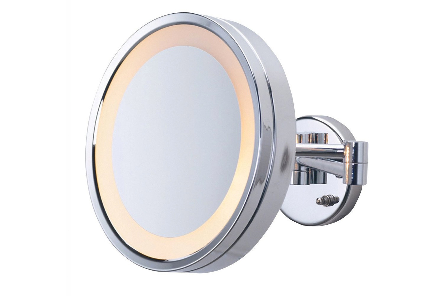 The mirror can be put wherever in the room, whether that be in the restroom or vanity area.