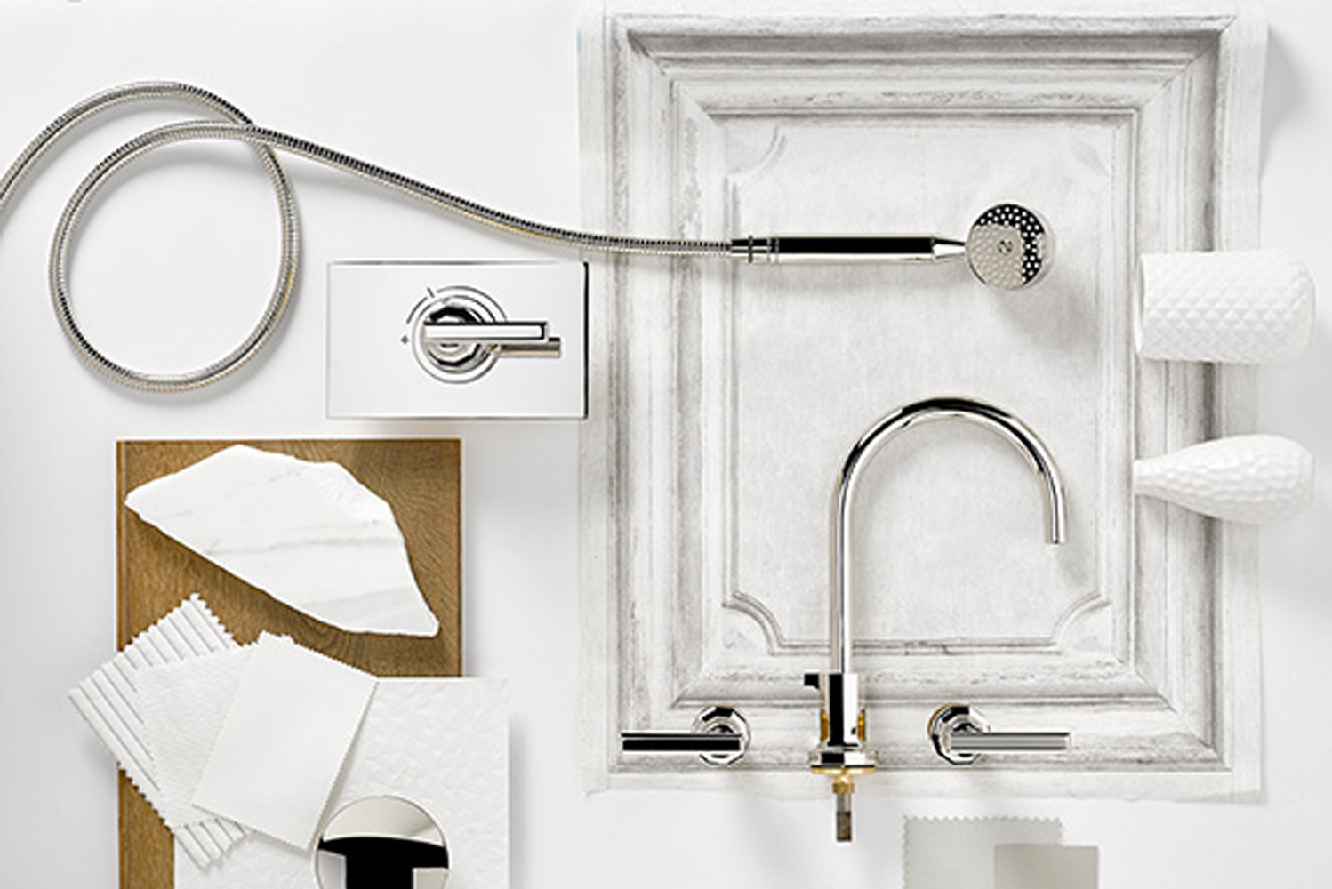 THG Paris introduced a new 2018 collection from French design duo Gilles & Boissier, the Les Ondes collection of faucets.
