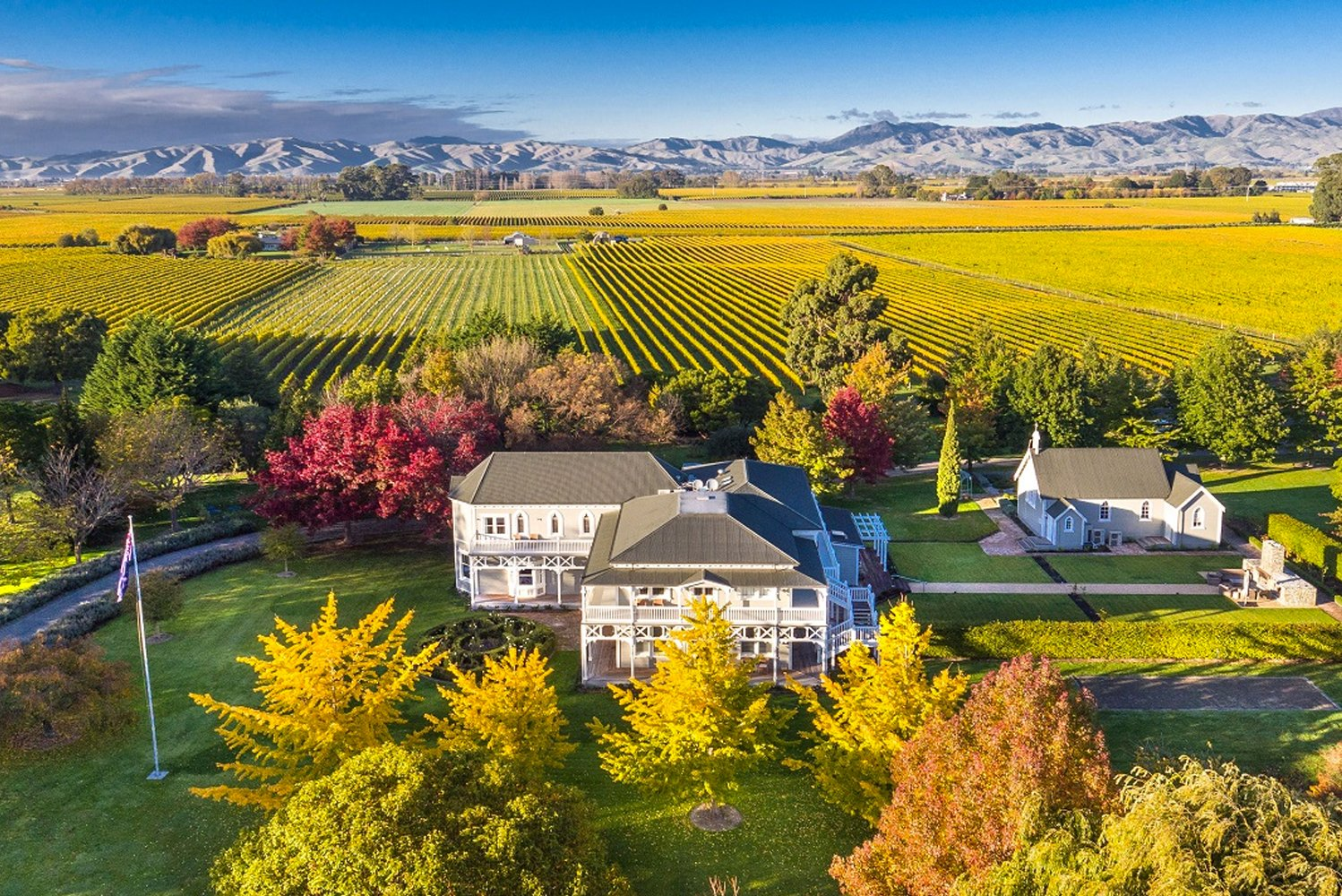The property is located in the wine country's Marlborough region.