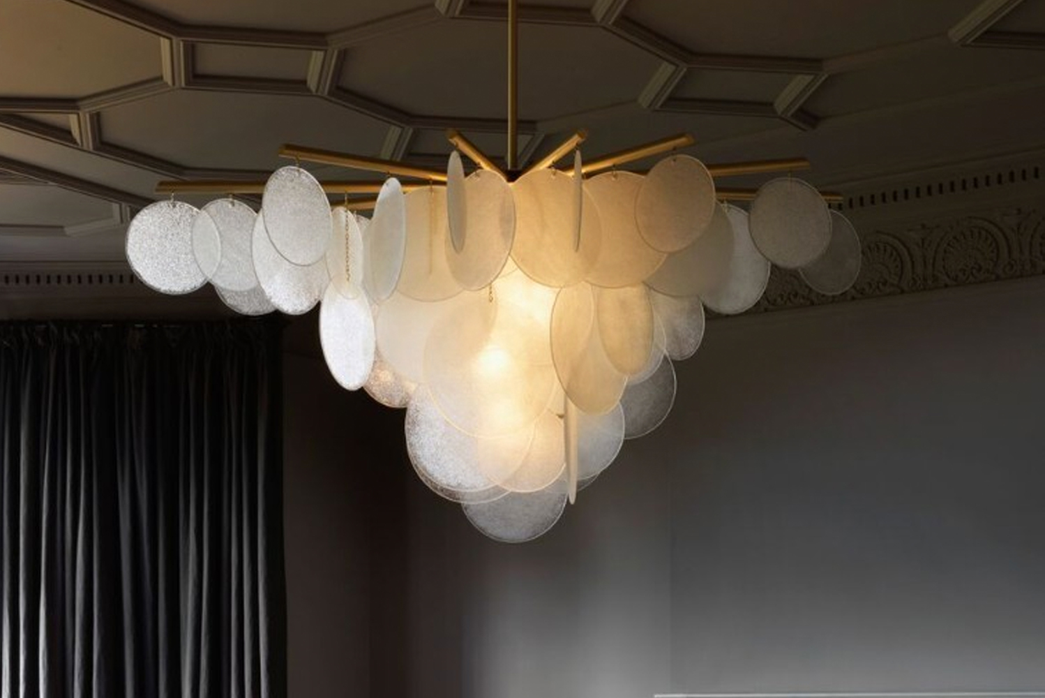 CTO Lighting launched Nimbus, which is available as a pendant and wall light.