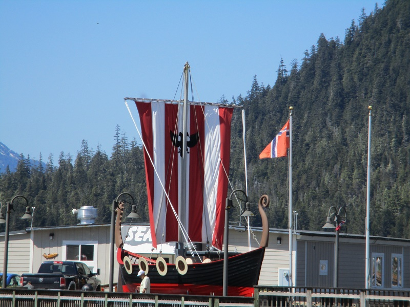 "We spotted this ""Viking ship"" during Petersburg's  ""Little Norway Festival."" Photo by Susan J. Young"