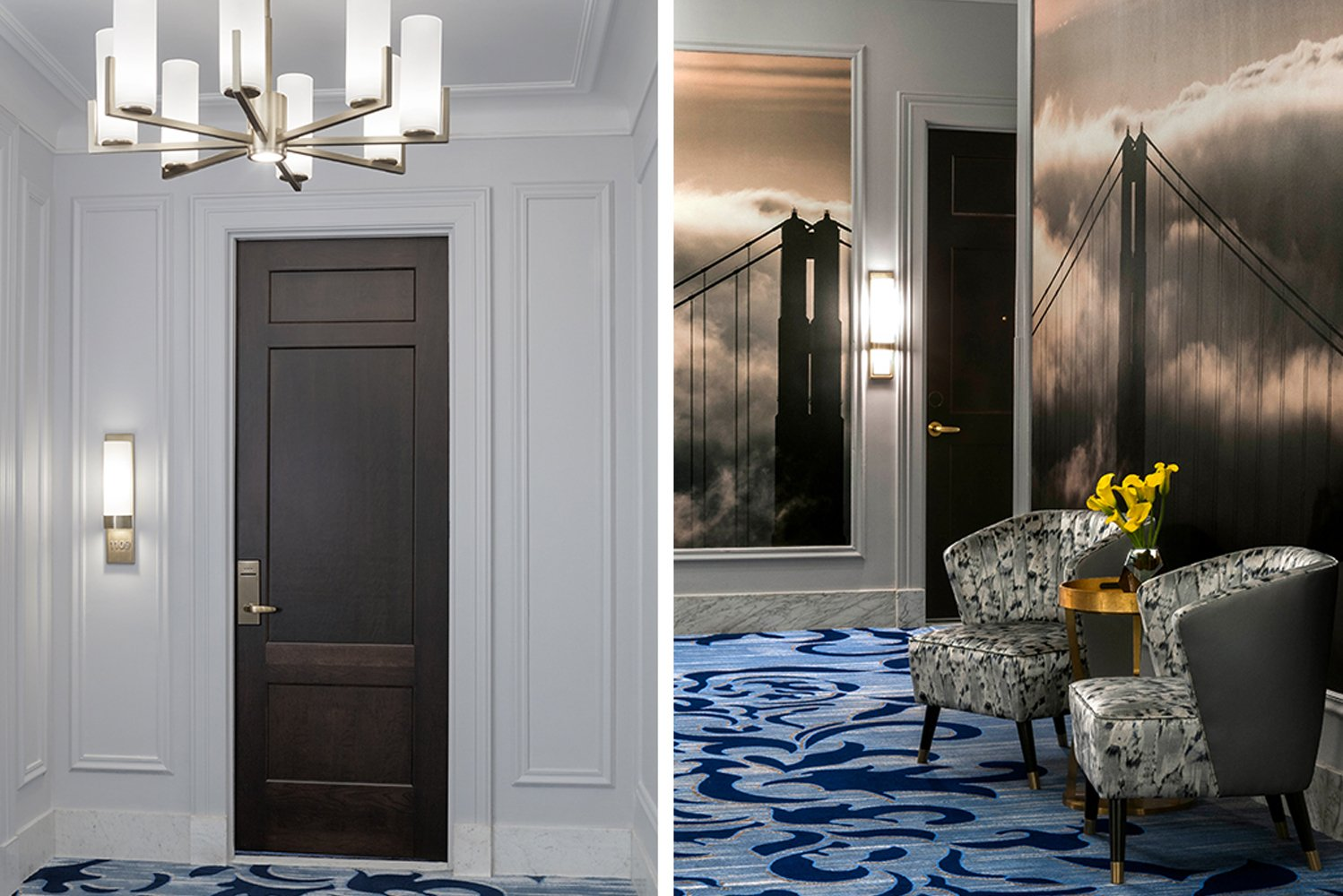 The renovation remained true to the look and architecture of this 1904 destination hotel.