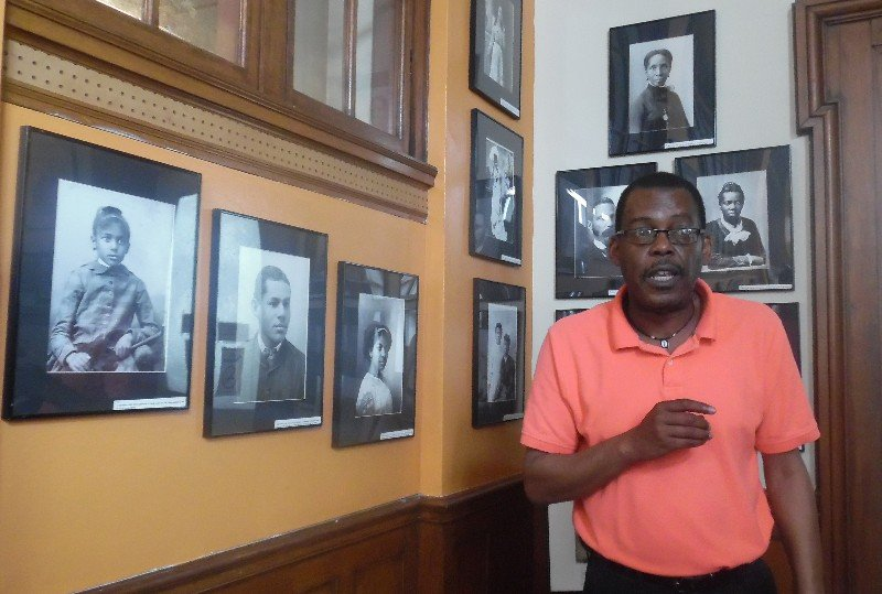 Darrell White, director of heritage, Natchez Association for the Preservation of Afro-American Culture, operates a museum within the 1905-era old U.S. Post Office. Photo by Susan J. Young.