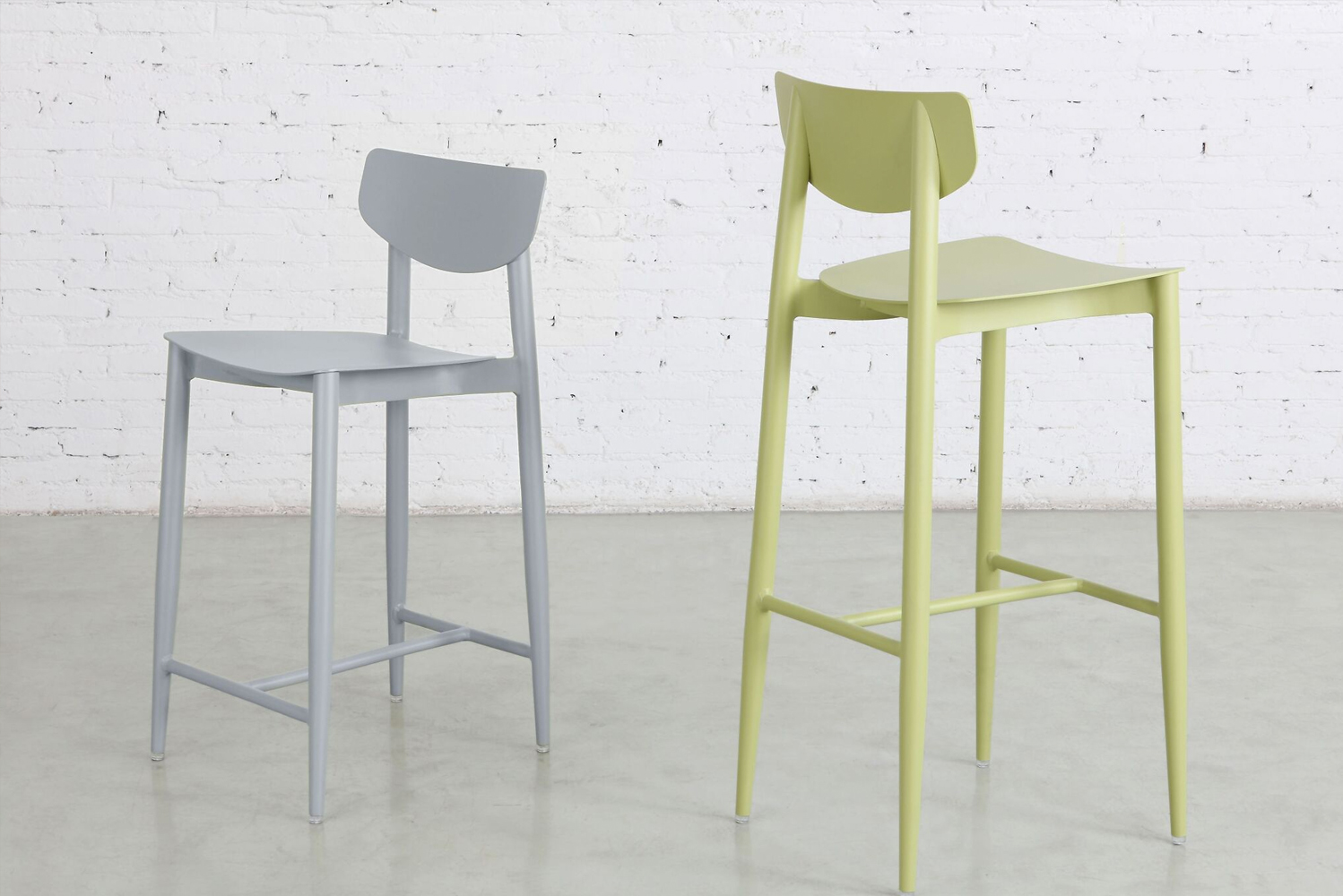 m.a.d. furniture design launched the Ally collection of counter-height stools and chairs.
