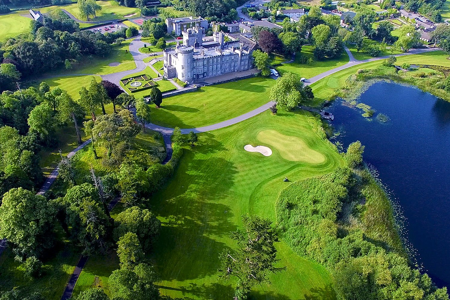 The property is surrounded by over 450 acres of scenery, including a parkland golf course.