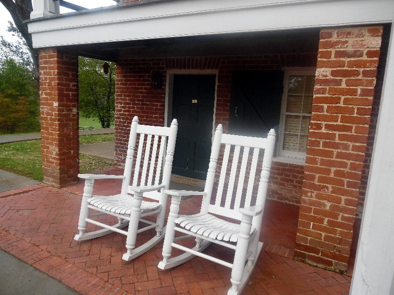 Rocking Chairs outside Travel Agent's room at Dunleith. Photo by Susan J. Young