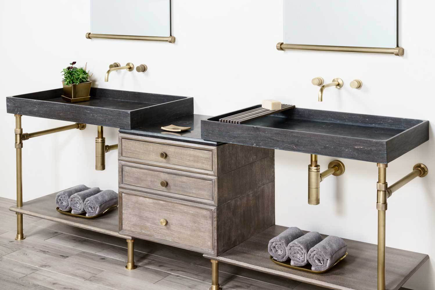 Stone Forest launched the Elemental collection of vanities, complementing the company's monolithic sinks.