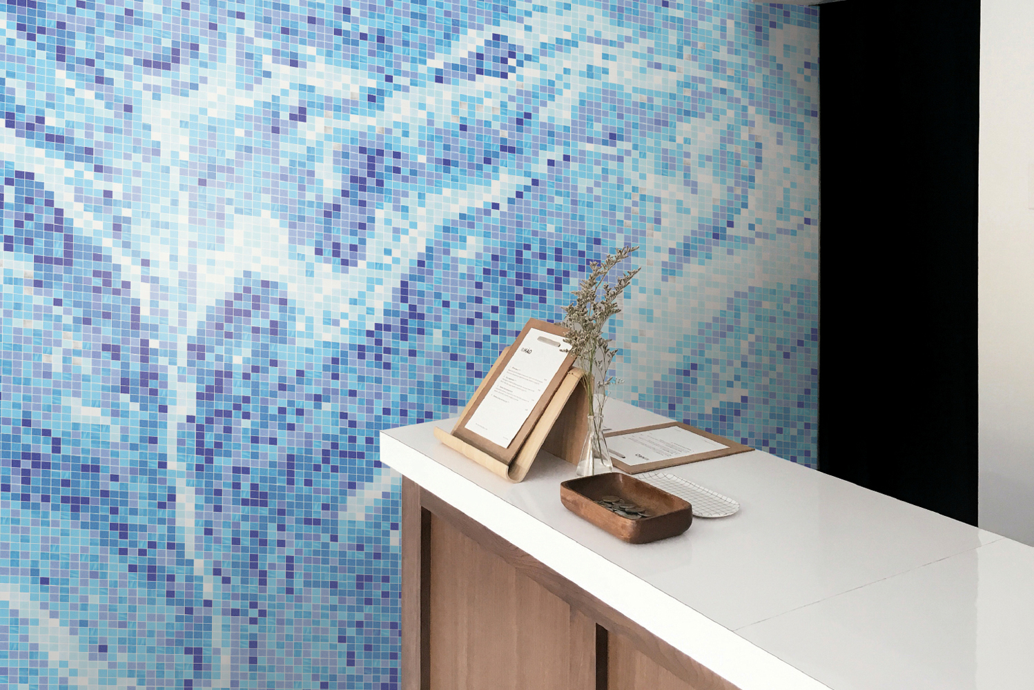 Artaic launched the latest addition to its SPLASH! Collection of fluid-inspired mosaics: Emulsion.