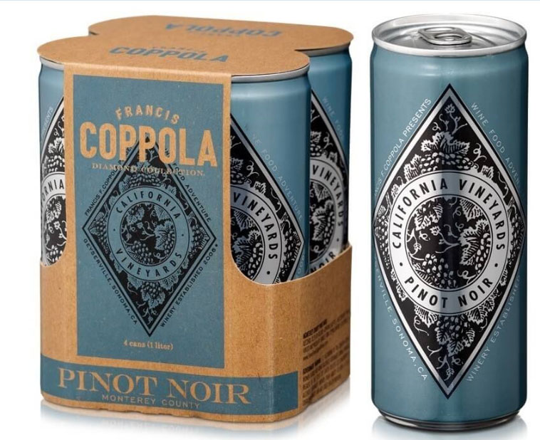 Canned wines have been steadily growing in popularity, and Francis Ford Coppola Winery has led that charge. The latest addition to their canned wine lineup is their 2017 Francis Coppola Diamond Collection Pinot Noir, joining Chardonnay, Pinot Grigio and Sauvignon Blanc. This packaging is ideal for operators with bars and restaurants with patios, pools and other outdoor areas, or venues near beaches.