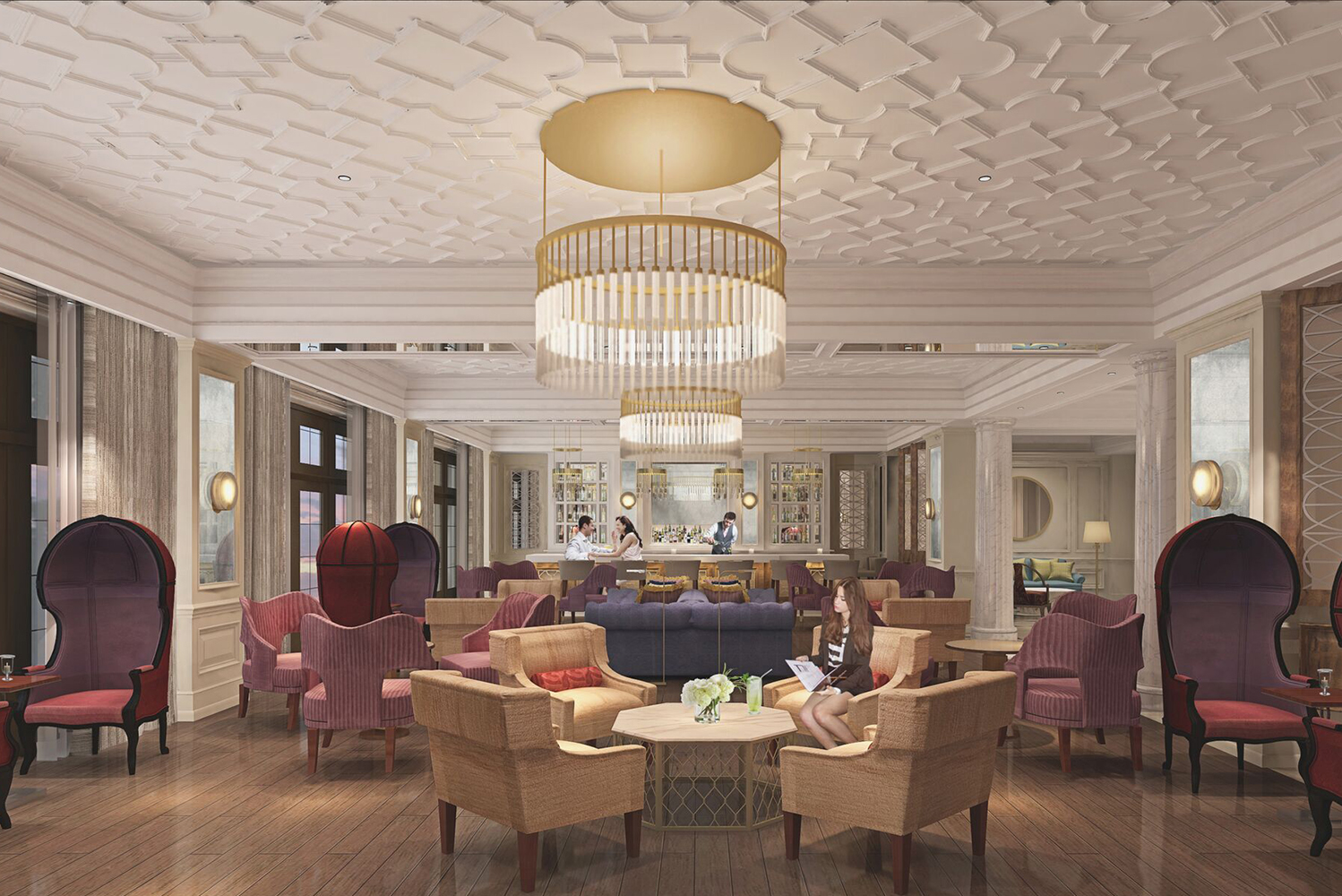 European-inspired in its design, Hotel Bennett will have guestrooms and suites opening onto Marion Square.
