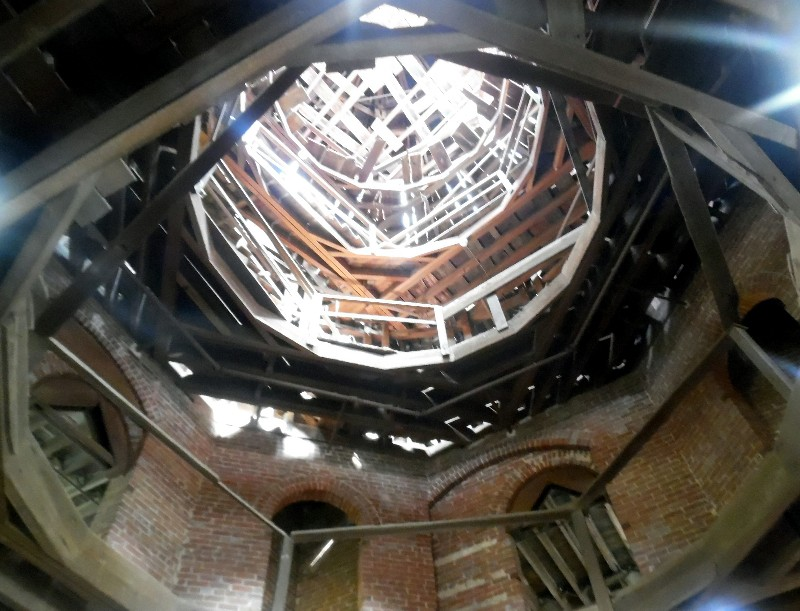 The unfinished interior -- looking up to the dome -- of Longwood. Photo by Susan J. Young