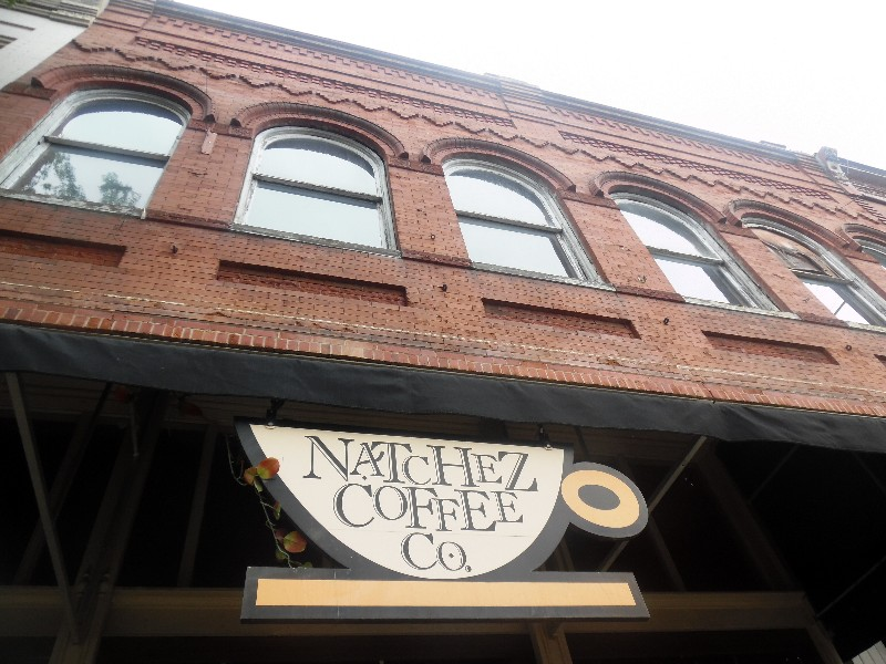 A popular downtown Natchez spot for a cup of coffee, breakfast or lunch is the Natchez Coffee Company. Photo by Susan J. Young
