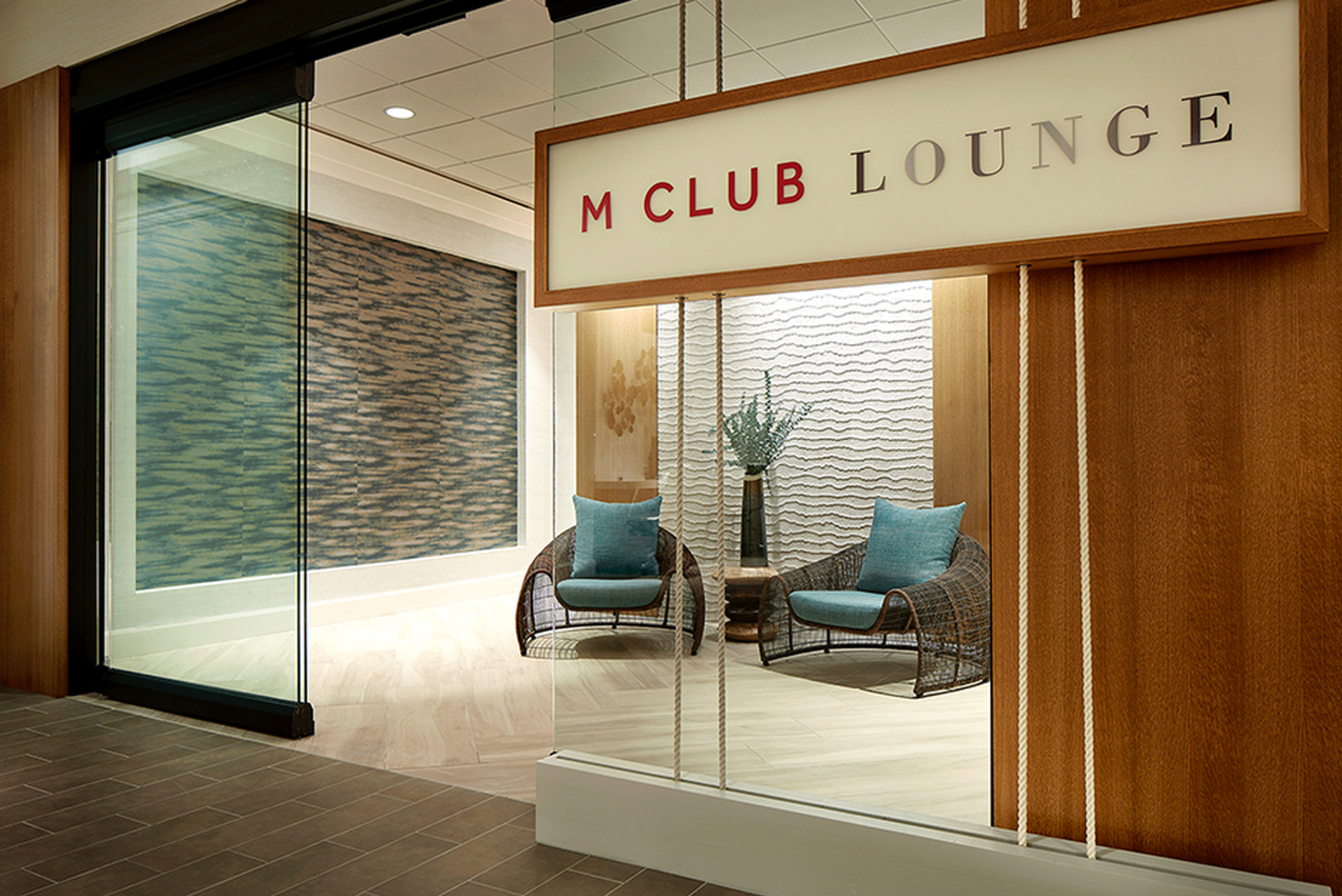 ZWA also designed the new M Club Lounge concept, an extension of the Great Room.