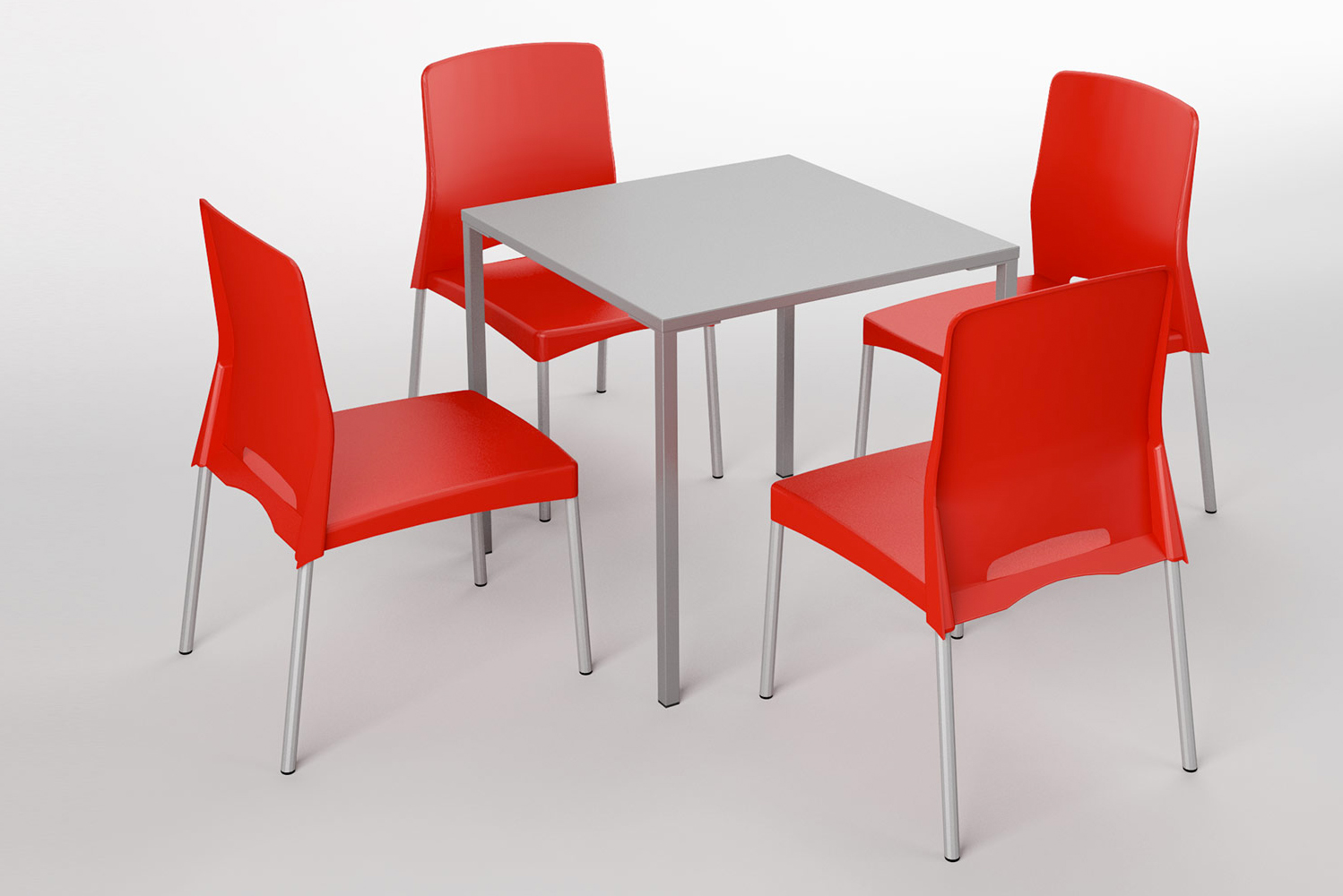 Sim tables are stackable, outdoor ready and available in chair or stool heights.