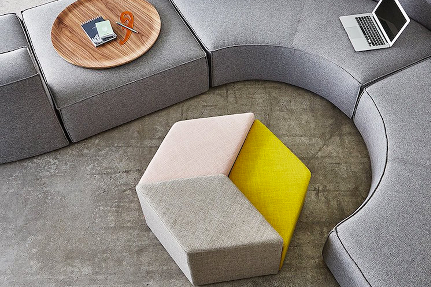 Gus* launched Trillium, a trio of stools designed to be used as both a centerpiece and as an alternative seating option.