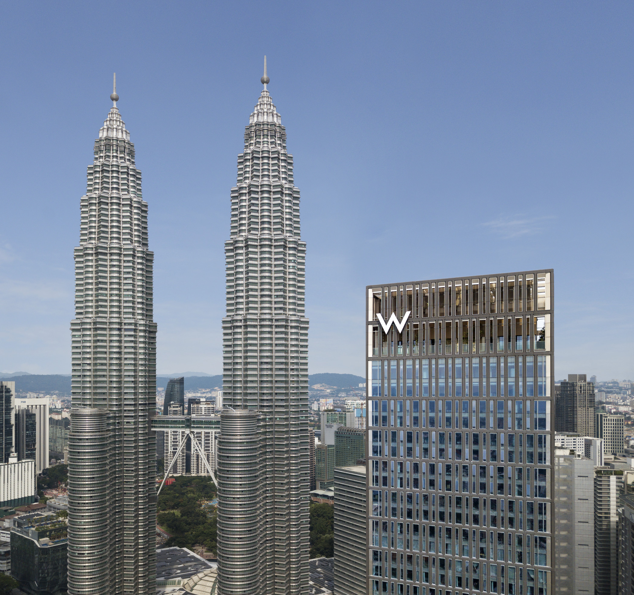 The new hotel is next to the city's iconic Petronas Towers.