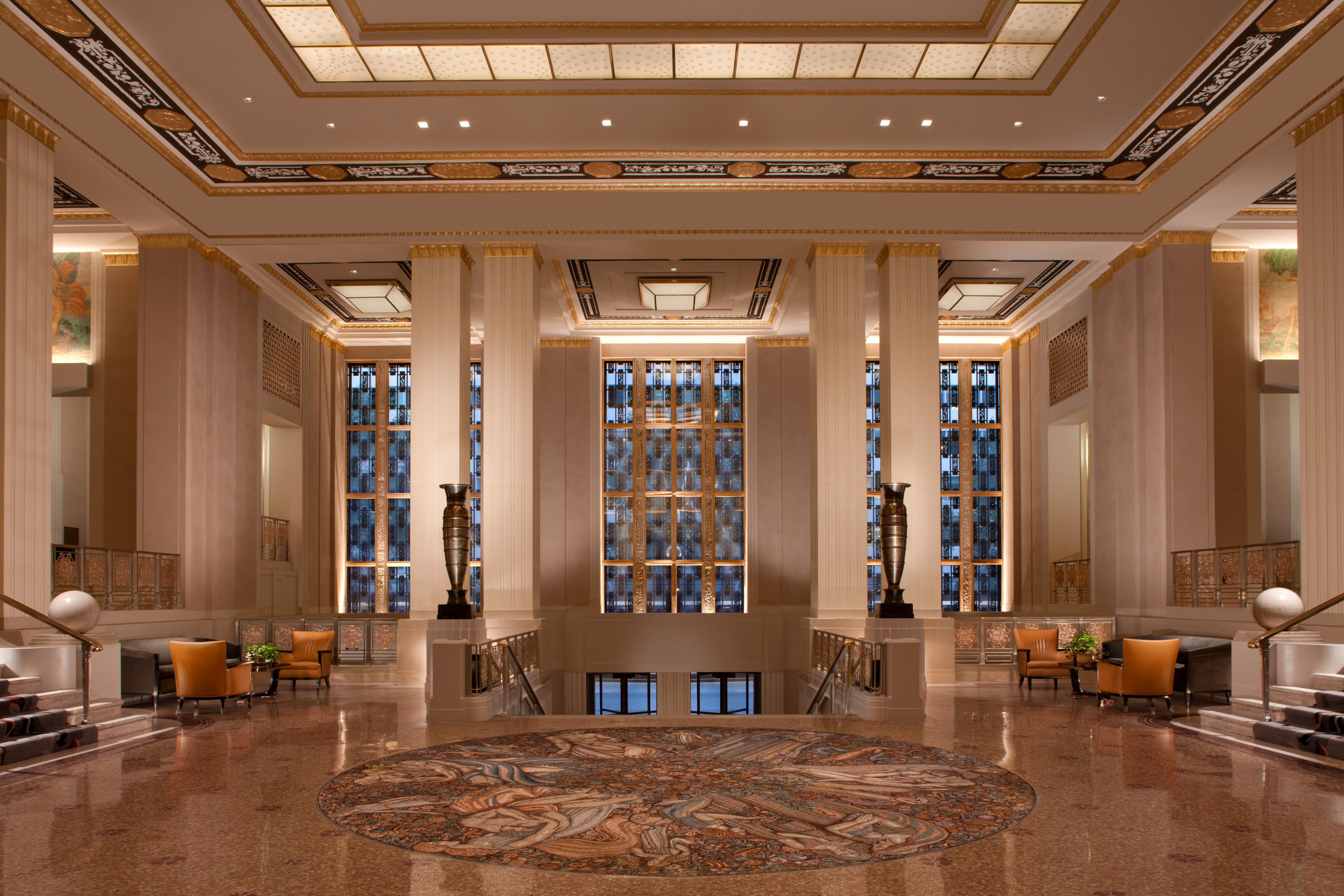 Numerous interior spaces within the hotel are designated as New York City landmarks, including the hotel's historic Grand Ballroom and iconic Park Avenue Lobby