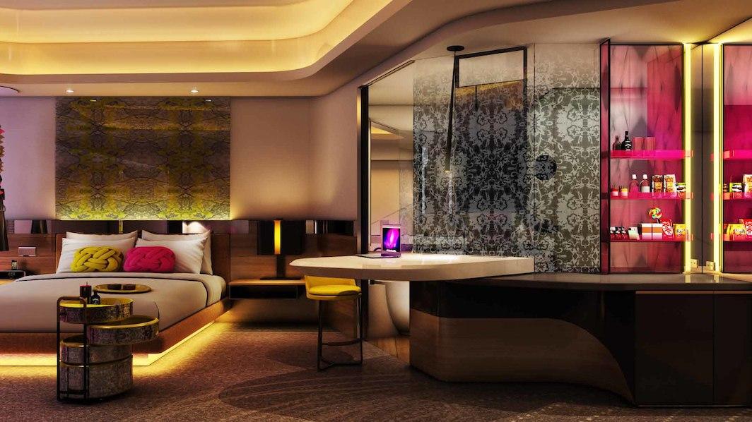 The hotel's design evokes Kuala Lumpur's forward-looking energy.