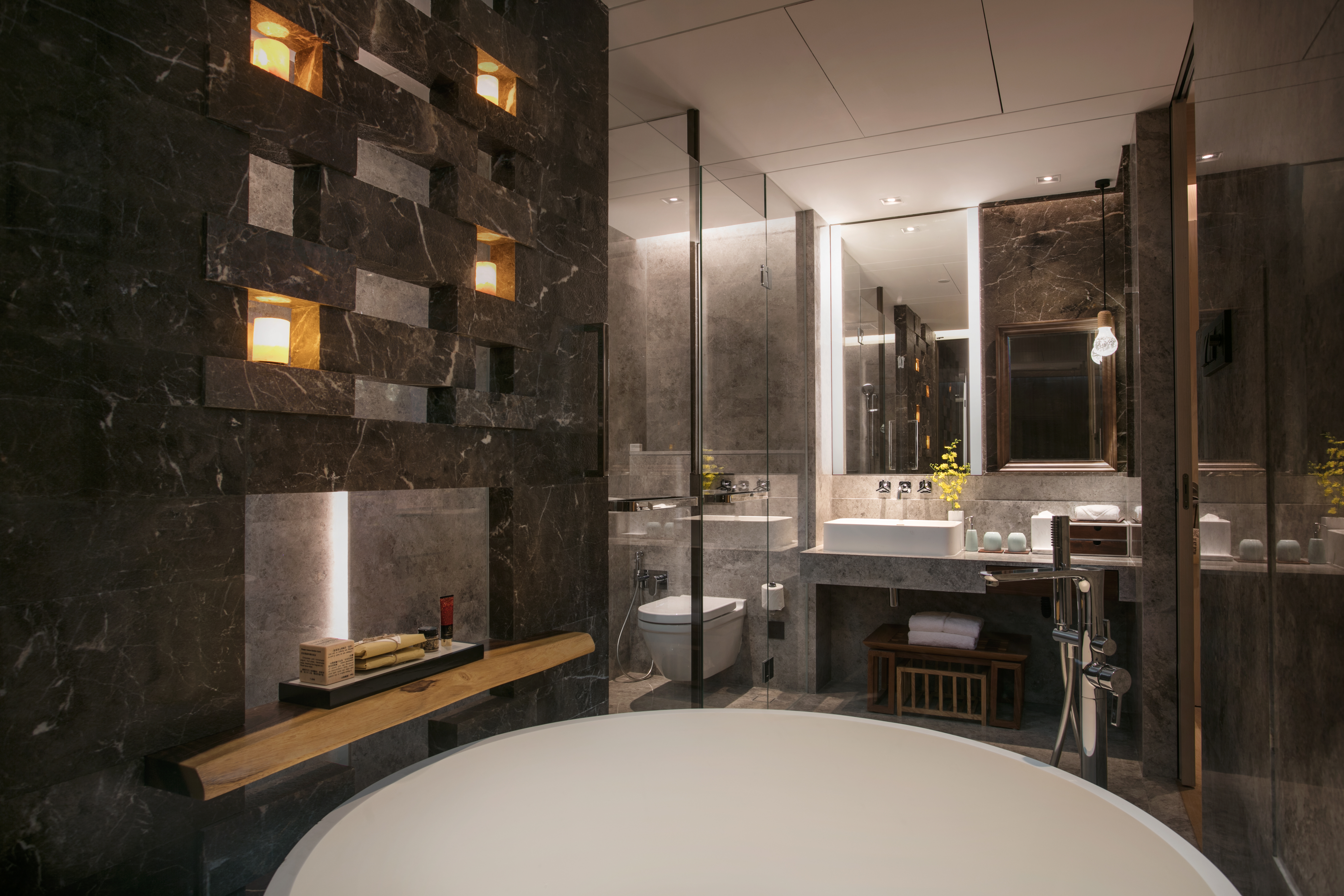 Hirsch Bedner Associates recently designed The Anandi Hotel & Spa Shanghai, with a concept of healing throughout.